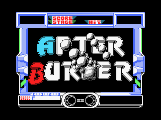 After Burner MSX Options screen