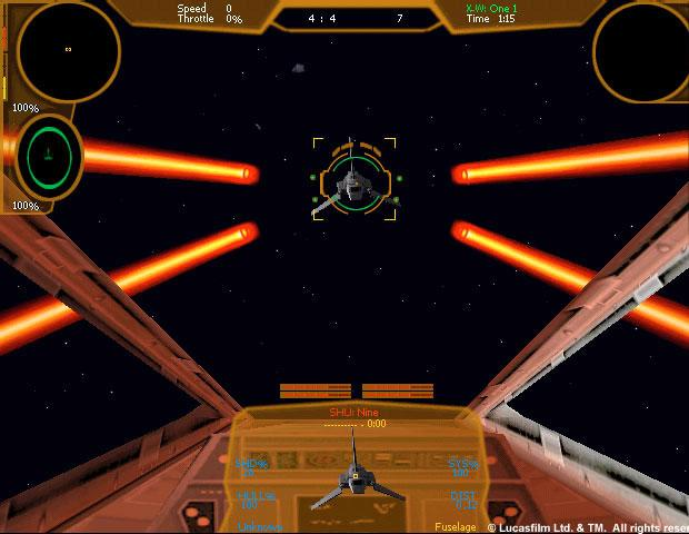Star Wars: X-Wing Alliance Windows In my sights