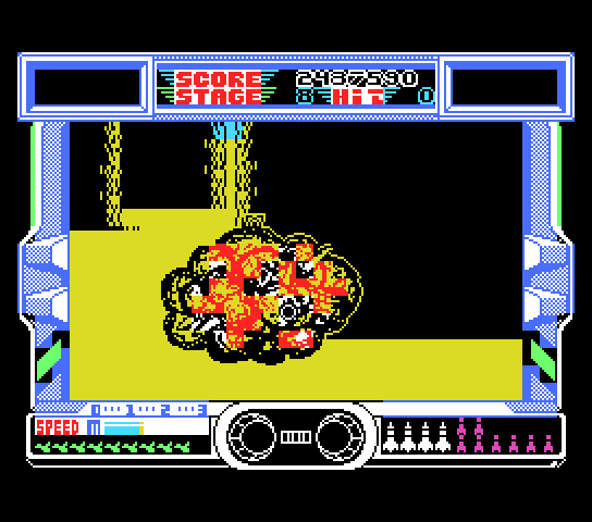 After Burner II MSX A colourful explosion in stage 8