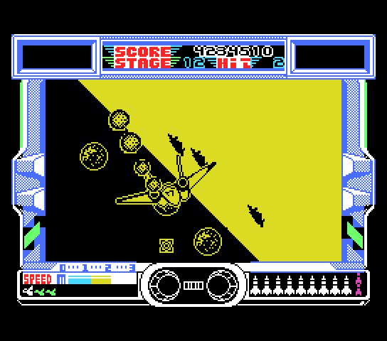 After Burner MSX A roll in stage 11