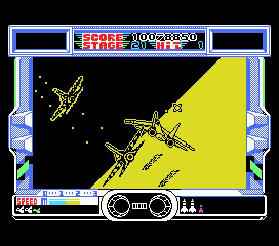 After Burner MSX Near the end, at stage 21