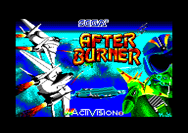 After Burner II Amstrad CPC Loading screen