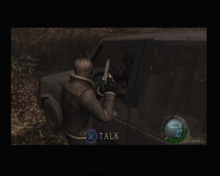 Resident Evil 4 PlayStation 2 These guys gave you a lift but they're not going with you... which is unfortunate for them
