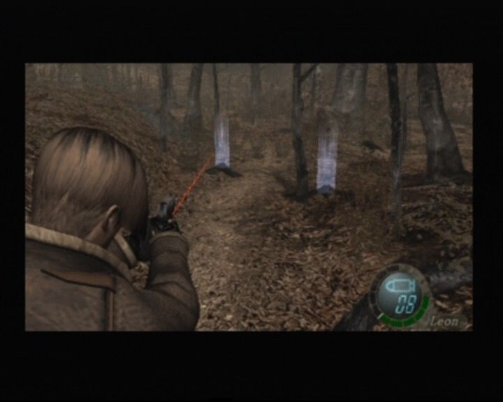 Resident Evil 4 PlayStation 2 Shooting at the crows can get you some gold and items
