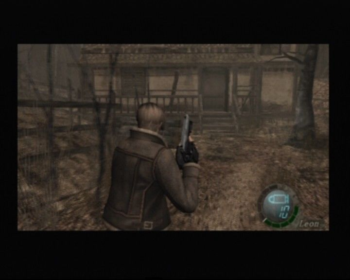 Resident Evil 4 PlayStation 2 A cabin... there must be some friendly people nearby