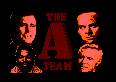 The A-Team Amstrad CPC Loading screen