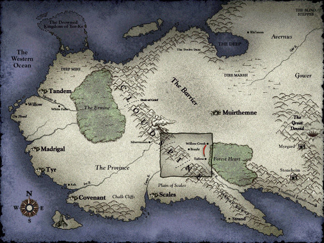 Myth II: Soulblighter Windows Map of the Kingdom.