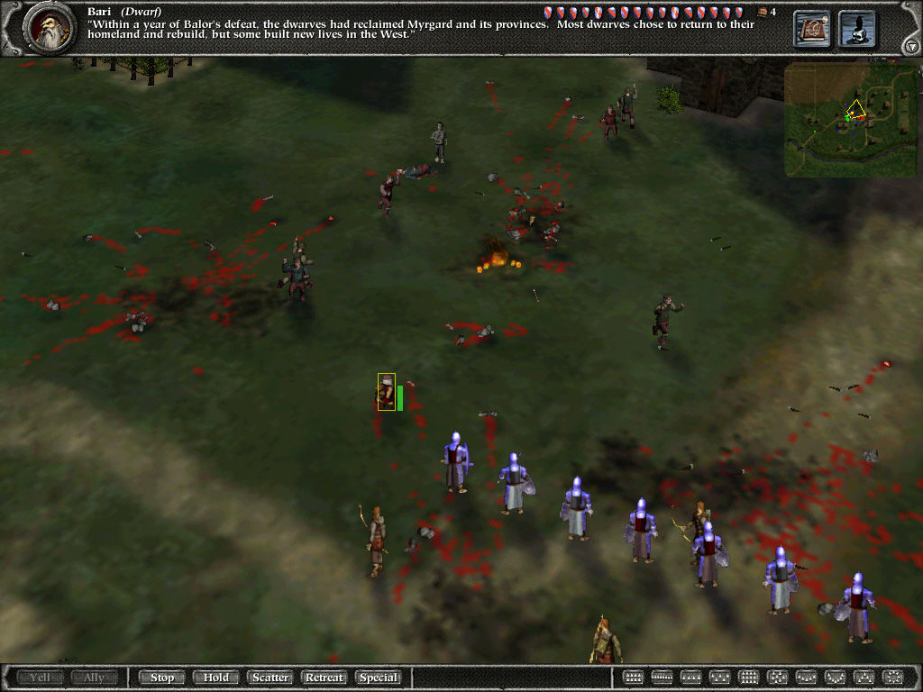 Myth II: Soulblighter Windows Killing zombies.