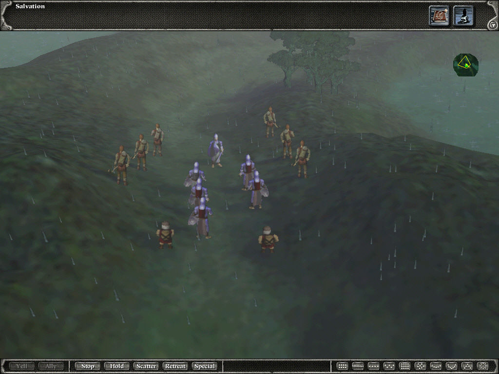 Myth II: Soulblighter Windows In this scenario you must free prisoners from brigands.