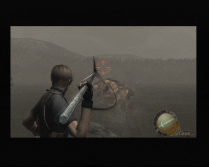 Resident Evil 4 PlayStation 2 Hunting the big fish in a nearby lake... villagers won't be happy about that