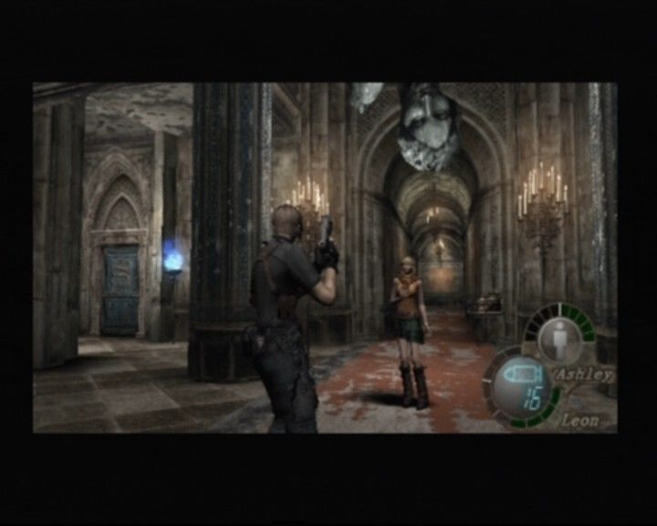 Resident Evil 4 PlayStation 2 When Ashley is with you, you will have to take care of her whereabouts and health bar all the time