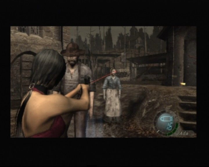 Resident Evil 4 PlayStation 2 Ada getting acquainted with some of the locals