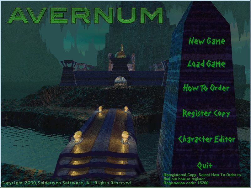 Avernum Windows Start Menu