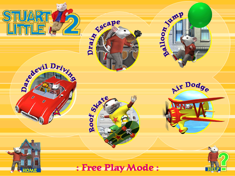 Choose From One Of The 5 Games In Free Play Mode