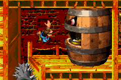Donkey Kong Country 3: Dixie Kong's Double Trouble! Game Boy Advance Facing some big trouble in Belcha's Barn (a spin-thorny mincer was putted to a lot more of danger).