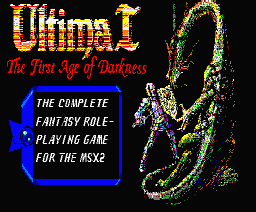 Ultima I: The First Age of Darkness MSX Title screen