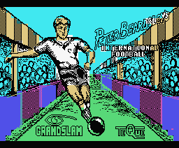 Peter Beardsley's International Football MSX Loading screen
