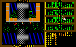 Exodus: Ultima III Atari ST Enter the castle
