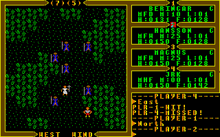 Exodus: Ultima III Atari ST Battle with magicians
