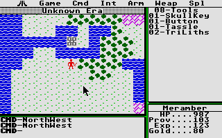 Ultima II: The Revenge of the Enchantress... Atari ST A town to the north