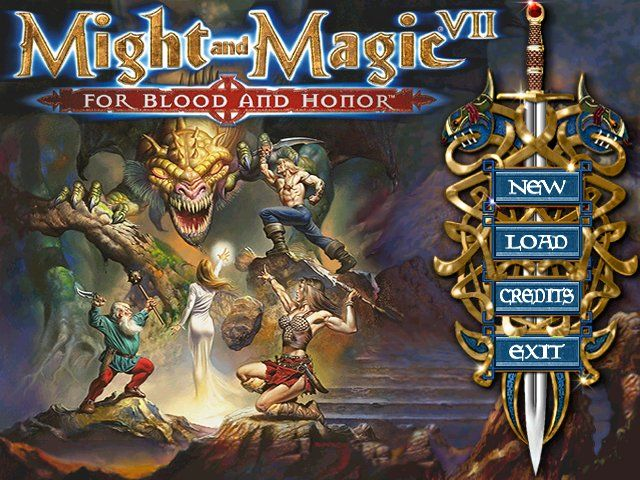 Might and Magic VII: For Blood and Honor Windows Main menu