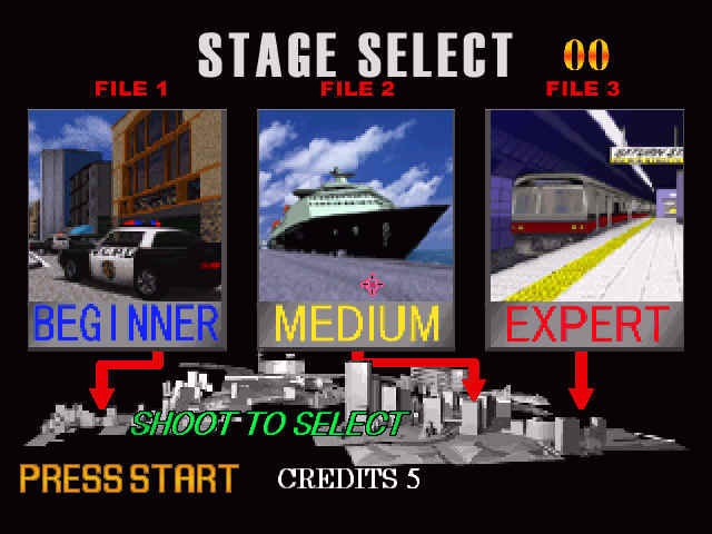 Virtua Cop 2 Windows Stage select