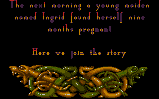 Heimdall Atari ST Intro - surprise, surprise - you are pregnant!