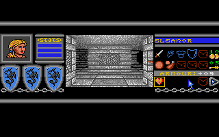 Bloodwych Atari ST It's empty and scary