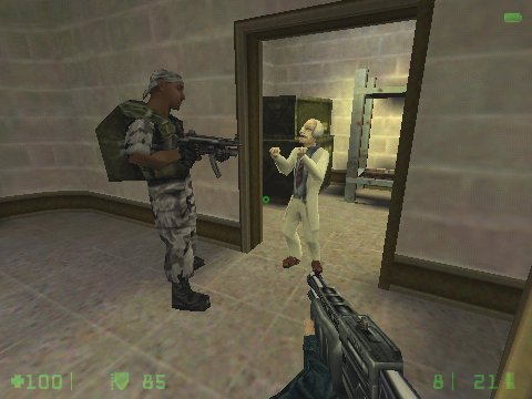 Half-Life: Opposing Force Windows You'll have to choose sometimes, to stick with your comrades, or to kill 'em and save scientists.