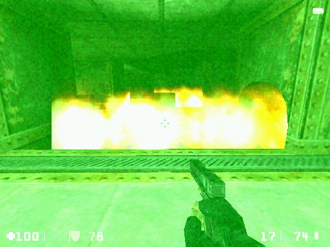 Half-Life: Opposing Force Windows Jumping through the flame bursts.