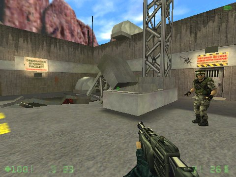 Half-Life: Opposing Force Windows You should watch about the medics as they can be useful when you catch a bullet.