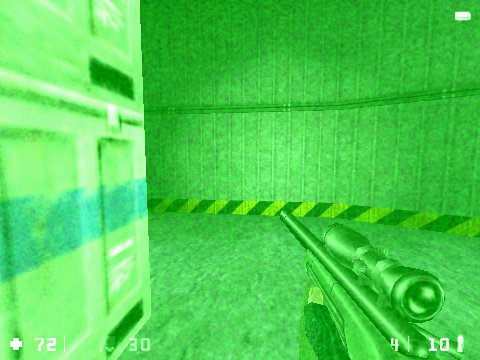 Half-Life: Opposing Force Windows Sniper can take any human target with a single hit. Which of course, cannot be said for alien targets.