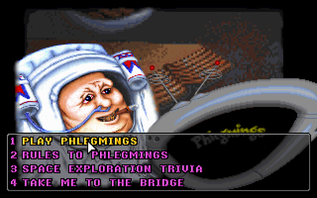 The Geekwad: Games of the Galaxy DOS You can either play Phlegmings or play a Space Exploration Trivia game to get clues as to how to crack the code.