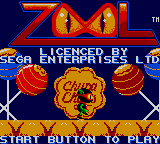 Zool Game Gear Title screen