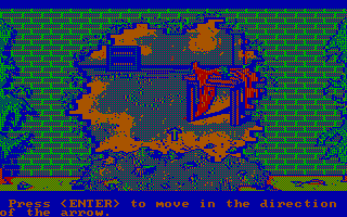 Manhunter: New York DOS Follow the arrow to check out this dangerous looking room (CGA with RGB monitor)