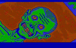 Manhunter: New York DOS This guy's had a bad day (CGA with RGB monitor)