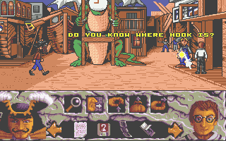 Hook Atari ST The key question as the game starts