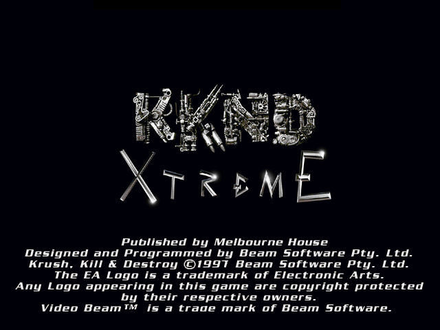 KKND: Krush Kill 'n Destroy Xtreme Windows Title screen.