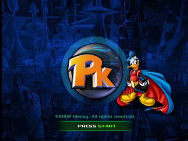 Disney's PK: Out of the Shadows GameCube Title Screen