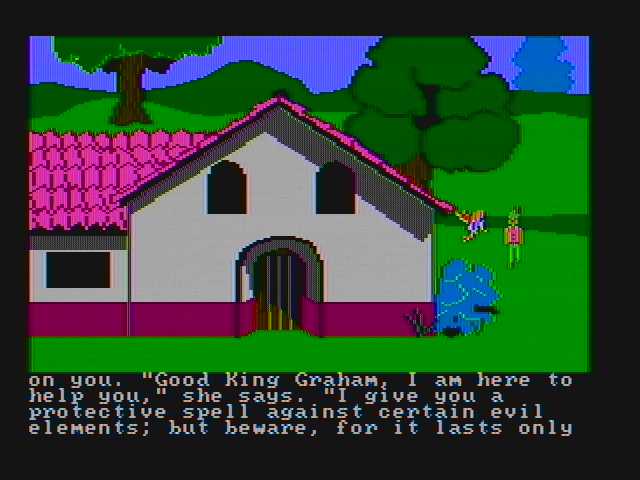 King's Quest II: Romancing the Throne PC Booter Protective spells are always helpful (CGA with composite monitor)