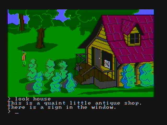 King's Quest II: Romancing the Throne PC Booter A little antique shop is here... (CGA with composite monitor)