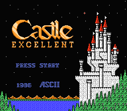 Castlequest NES Title screen