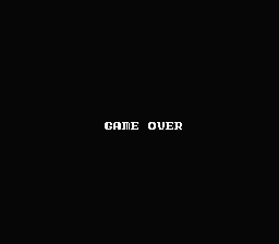 Castlequest NES Game Over