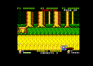 Double Dragon Amstrad CPC Fell down a hole