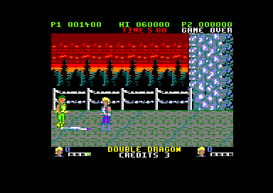 Double Dragon Amstrad CPC Stage 4