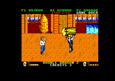 Double Dragon II: The Revenge Amstrad CPC Carrying a log