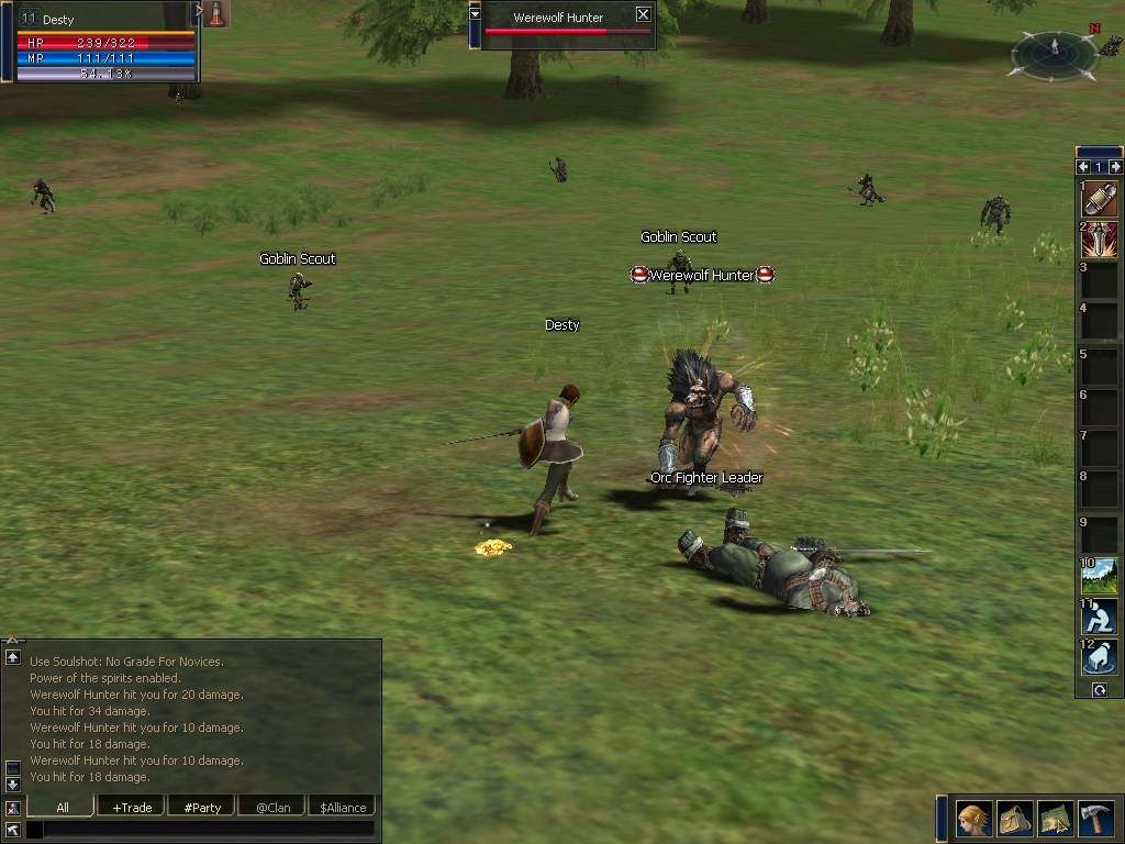 Lineage II: The Chaotic Chronicle Windows My hero against Werewolf Hunter.