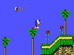 Sonic Blast SEGA Master System It is now possible to stand on top of trees
