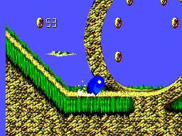 Sonic Blast SEGA Master System It is also possible to crouch down and accelerate on the spot