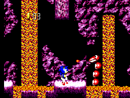 Sonic Blast SEGA Master System Watch out for the lava animal